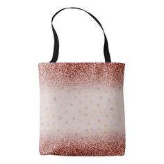 Chic Rose Gold Glitter Ombre Polka Dots Girly Tote Bag - girly gift gifts ideas cyo diy special unique