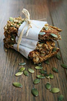 zelfgemaakte granolabar