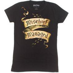 9b04a2cc Amazon.com: Harry Potter Mischief Managed Girls T-Shirt Size : Medium: