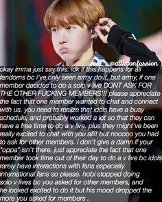 SUBMITTED CONFESSION    [ Kpop Confession ]  AGREE or DISAGREE? Like if you agree comment if you disagree!   CONFESSIONS AREN'T OURS  send your confession by dm or ask.fm  the confessor won't be revealed to anyone  all types of confessions are allowed  tag your friends and follow for more confessions  admin Sophie   [ t a g s ] #kpop #kpopconfessions #kpopidol #koreanpop #bts #exo #bigbang #shinee #nct #got7 #seventeen #monstax #wannaone #bap #nuest #ikon #snsd #girlsgeneration #fx…