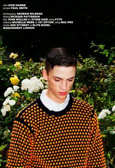 Ash Stymest shot by Georgie Wileman and styled by Nickque Patterson with pieces from Lou Dalton, Paul Smith, Calvin Klein and more, for I Love Fake magazine