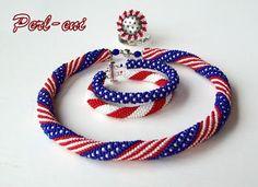 "Free Beaded Crochet ""Patriotic"" Rope Patterns - featured in Sova-Enterprises.com Newsletter!"
