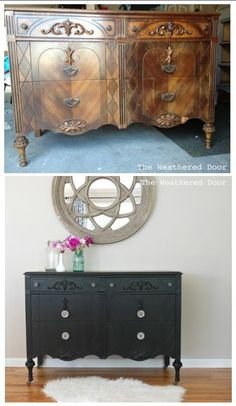 gorgeous way to redo an old buffet other european paint finishes