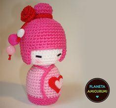 crochet kokeshi