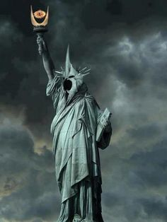 I thought the Statue of Liberty was a weeping angel, now you're telling me Sauron's taken over? New York is so lucky.