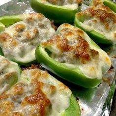 Fannypacks and Finlandia: Philly Cheesesteak Stuffed Bell Peppers