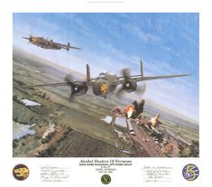 Alcohol Busters of Formosa by Steve Ferguson  On May 29, 1945, 1/Lt. Fred L. Paveglio and his wingman, 1/Lt. L.T. Wilhelm, piloted their B-25J Mitchells on a devastating raid against the Tairin Alcohol Plant on the island of Formosa. Following the precise directions from the navigator, 2/Lt. Albert C. West, Paveglio and Wilhelm dropped down to attack height and heavily strafed the Tairin complex... More at https://irandpcorp.com/products/alcohol-busters-of-formosa/