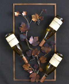 Wine Rack Bottle Holder, Grapevine Decorative Functional Wall Art