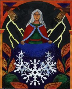 Holda, Goddess of Winter and Witchcraft, Lady of the Wild Hunt, give us all Your blessings.