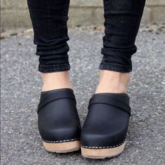 Lotta from Stockholm size 8 high clogs Size US 8 / EU 38 Swedish clogs in black leather. Brand new and never worn outside the house. Fits true to size. Lotta from Stockholm Shoes Mules & Clogs