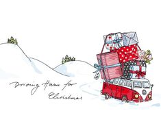 krima & isa bus :D Christmas Card Crafts, Christmas Drawing, Christmas Mood, Noel Christmas, Xmas Cards, All Things Christmas, Holiday Crafts, Vintage Christmas, Christmas Decorations