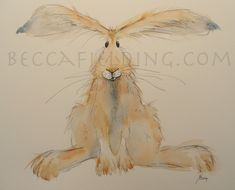Another of my hare watercolours