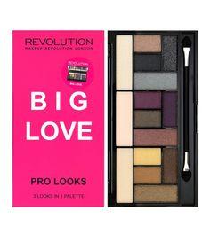 Hello, mes beauty, on se retrouve avec une nouvelle palette , j'ai donc choisi la palette Big love Pro looks de Makeup R�volution qui est le Dupe de la palette The Sexy of Return de Too Faced . Elle se compose de 15 fards , des mats et des iris�s. Vous...