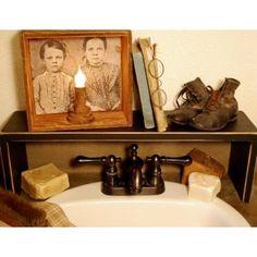 primitive bathroom shelf more primitives bathroom decor ideas ...