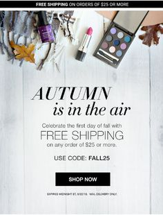 Celebrate 1st day of autumn today-- #free #shipping with $25 order. . Use coupon code FALL25 #Avon