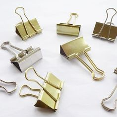 Silver Or Gold Metal Office Clip