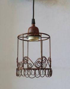 lampara de techo colgante de hierro vintage cod-044 Pipe Lighting, Lighting Design, Lamp Light, Light Up, Iron Wall Decor, Chandelier, Living Room Lighting, Handmade Home, Lamp Shades
