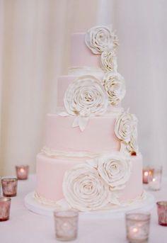Wedding cake idea; Featured Photographer: Jose Villa