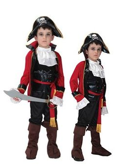 Halloween Children Cosplay Pirates of the Caribbean Handsome Cosplay Costumes Twinset