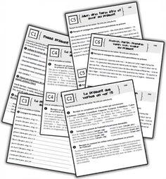 Faites les exercices suivants pour pratiquer les verbes.