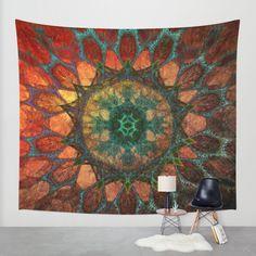 Buy Sun Mandala Wall Tapestry by Klara Acel. Worldwide shipping available at Society6.com.
