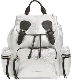 0d0cf0748ef9 Burberry Medium Rucksack Metallic Silver Leather Backpack - Tradesy  Metallic Backpacks