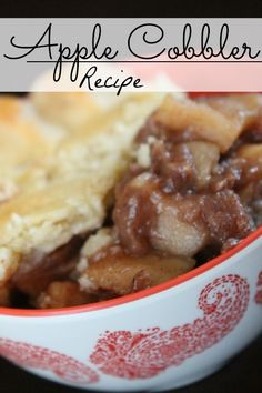 Here's an Easy Homemade Apple Cobbler Recipe with a Homemade Easy Pie Crust for Fall!