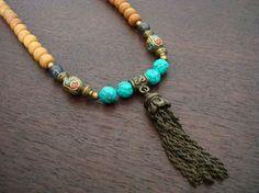 Tibetan Turquoise Sandalwood Mala