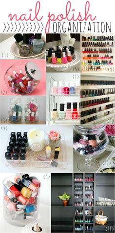 Fabulous DIY nail polish displays and organization ideas! God Bless the person that pinned this! Lord knows I've been needing to do SOMETHING with all of the nailpolish I have<3