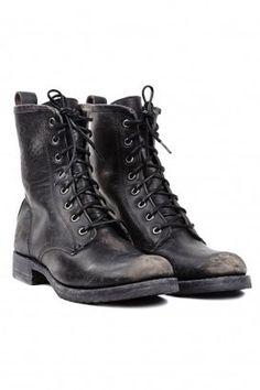 Frye Veronica Combat (Cognac Stone Wash) Women's Lace-up Boots ...