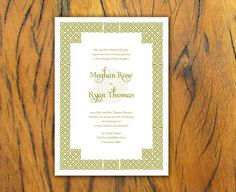 Celtic Border  IRISH Wedding Invitation Set on by IzzyBshop, $2.30