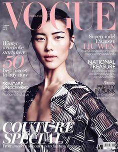 allcoveredinglitter: Liu Wen - Vogue Thailand October 2013 Photographer: Marcin Tyszka Fashion Editor: Ekaterina Mukhina