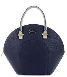 Paul's Boutique Spring / Summer 2015 | Meg shell-shaped handheld bag in Classic Navy. www.paulsboutique.com x