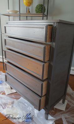 bronze gray dresser general finishes milk paint glaze no hardware