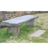 Outdoor Stone, Stone Bench, Outdoor Furniture, Outdoor Decor, Natural Stones, Ottoman, Grey, Projects, Home Decor