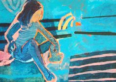 "Saatchi Art Artist Anna Masiul-Gozdecka; Painting, ""Plażowe 2"" #art"