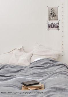 Linen duvet cover 240 x 220 cm - Blue grey — Bodie and Fou - Award-winning inspiring concept store