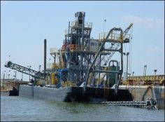 – Sand & Gravel Used Dredge with Process Plant Floating Plants, Sand And Gravel, Detroit Diesel, Sailing Ships, Deck, Amp, Water, Front Porches, Decks
