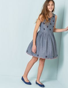 Chambray Flower Dress