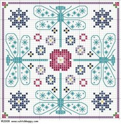 "Cross Stitch Happy: ""Guiltless"" Dragonfly Biscornu and Needlecase"