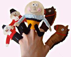 Humpty Dumpty Finger Puppets / Felt by WithHugsandKisses on Etsy