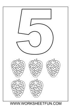 Number Coloring Pages 1 – 10 Worksheets / FREE Printable Worksheets Coloring Worksheets For Kindergarten, Preschool Number Worksheets, Free Math Worksheets, Numbers Kindergarten, Numbers Preschool, Learning Numbers, Free Preschool, Preschool Printables, Preschool Learning
