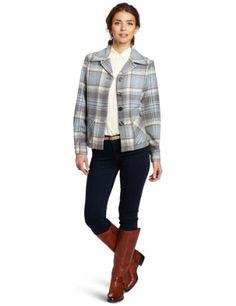 Pendleton Jackets for Women 49er jackets | Pendleton Women's Pendletons First 49er Jacket, Grey/Blue Plaid ...