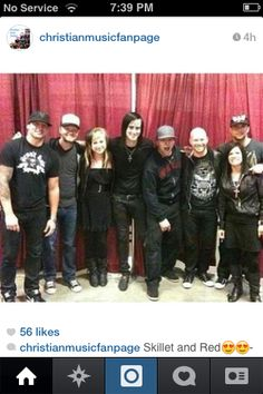 Skillet with Red!!! TWO OF MY FAVORITE BANDS SQUISHED TOGETHER!!!OHMYGOSH OHMYGOSH OHMYGOSH!!! @barlowgirl95