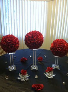 Four 8 Kissing Balls Pomander Ball Flower Ball Rose image 0 Pew Decorations, Quinceanera Decorations, Valentine Decorations, Wedding Decorations, Red Centerpieces, Bridal Shower Centerpieces, Purple Wedding, Wedding Flowers, Wedding Day