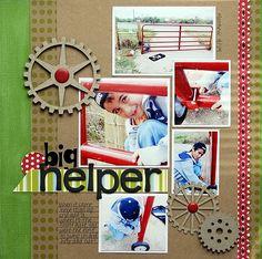 #papercraft #scrapbook #layout    Core'dinations and JB