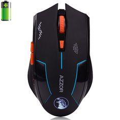 Azzor USB Laser Sạc Máy Tính Gaming Chuột Không Dây Cho PC Máy Tính Xách Tay Được Xây Dựng Trong Pin Với Sạc Cáp