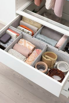 For tricks on how to declutter and organise your home like a pro, we've pulled together Marie Kondo's top tips for tidying up. Here's how to KonMari your home like a pro. Wardrobe Organisation, Home Organization Hacks, Wardrobe Storage, Organizing, Wardrobe Design, Modern Wardrobe, Closet Designs, Closet Bedroom, Organization Ideas