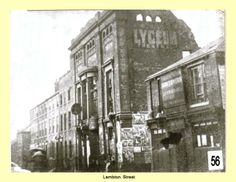 Lambton Street c.1890 showing the Lyceum Theatre and the Theatre Tavern.