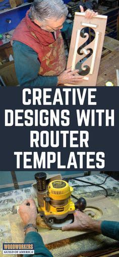 Using a Router and Template to Make Creative Designs. I would like to share some thoughts about creating repetitive designs with a router and a template. To make a template, we embrace the skills of our ancestors – the pattern makers. I am referring to the folks who carved patterns by hand, before the age of computers. The router and template is as close as I get to high tech duplication. We still get to make and shape the template by hand.(Photo 1)